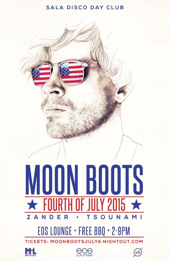 SALA DISCO DAY CLUB - MOON BOOTS - EOS LOUNGE - JULY 4th